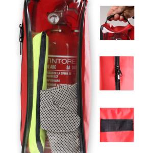 Art. 01760 - Kit estintore,giubbino,guanti con maniglia